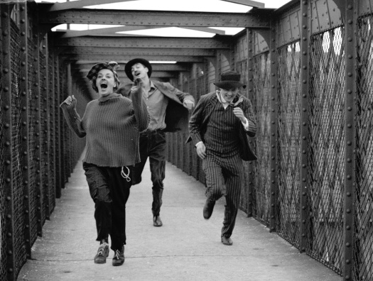 Jules et Jim de FrancoisTruffaut avec Jeanne Moreau, Henri Serre et Oskar Werner 1961